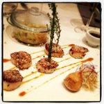 Tepenyaki de Saint Jacques rotis à la noisette