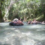 Spot enjoys river rafting with us