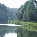 à velo le long du canal de Nantes à Brest (Velodyssee)