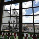 Plaza de San Francisco through Casa Gangotena windows