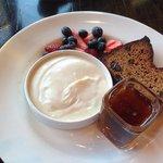 almond bread and yoghurt