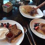 almond bread, cinnamonster, pancakes