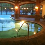 heated pool/spa area