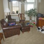 really nice play room complete with farm toys