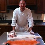 Chef Jason preparing smoked salmon