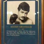 Alexis Argüello Plaque