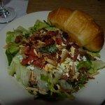 salade accompagnant le plat principal