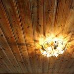 Wood Ceiling in room at Hotel Laimer Hof