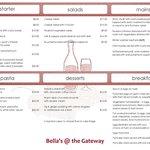 Bella's Cafe & Wine Bar Menu