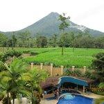 Amazing view of volcano