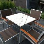 Terrace Bar with Carrara Marble Table