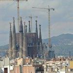 View of La Sagrada Familia from our room