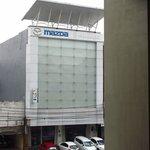 Mazda showroom opposite hotel
