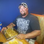 our 7lb burrito challenge and the first to finish it in 60 min!