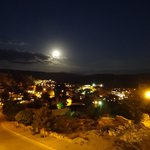 Our view of Urgup with the full moon, from Dimrit