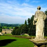 Taking the Garden Tour at Chatsworth; a 3 minute drive from hotel