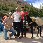 Us with Houssein and Sheila (our mule)