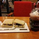 Cranberry Chicken Sandwich + Iced Chocolate