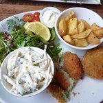 Mullaghmore crab cakes and salad