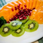 Breakfast at Jabulani Guest House starts with fruit