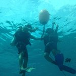 Brem and my friend on the first dive