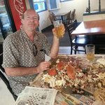 All u can eat steamed blue crabs and free beer