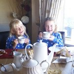 the girls enjoyed there scrumcious breakfast