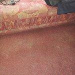 Silver Caravan Threadbare carpet throughout