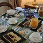 Morning Breakfast Table Setting