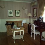 Sorry, already untidy: the sitting area of our room