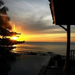 A sunrise view from villa 32
