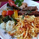 Lamb (the best!) w rosti and mixed vegetables  -  Stager Stubli