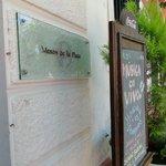 Restaurant entry sign