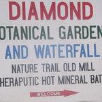 Diamond Mineral Bath sign