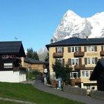 Side view with Eiger  - Bellevue Hotel Murren