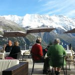 View from Deck in Afternoon    - Bellevue Hotel Murren