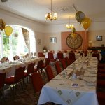Room set out for Golden Wedding lunch