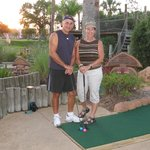 That's us playing at Congo River Golf