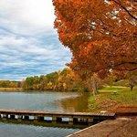 the lake and peer