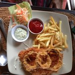 Chicken with onion rings