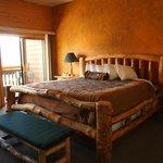 Flintstones bed.  :)  Very comfortable.