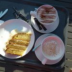 Good Cake Portion but Under-filled Coffee Cups