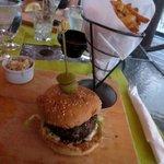Teriyaki-Chili-Burger and Fries