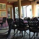 enclosed porch seating