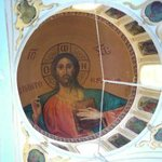 Beautiful ceiling mural inside the church of the monastery