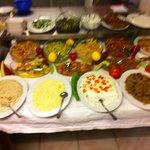 mezze tasting table