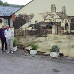 Lovely wall murel of the Farmers Boy Inn