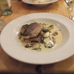 Sea Bass with Wild Mushroom Sauce