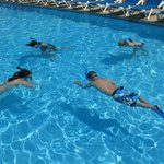 Snorkeling lessons in the pool at The Grand Hotel, Cape May