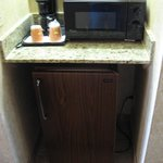 Room 1217 - fridge & microwave